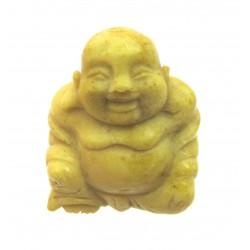 Buddha 3 cm Serpentin gelb