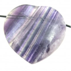 Herz gebohrt Fluorit lila 35 mm