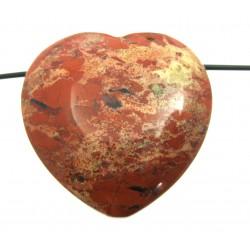Herz gebohrt Jaspis rot 35 mm