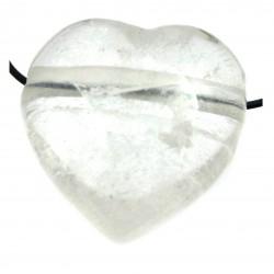Herz gebohrt Bergkristall bauchig 35 mm