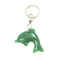 Schlüsselanhänger Delfin Aventurinquarz grün