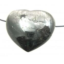 Herz gebohrt Hypersthen (Ferro-Enstatit) bauchig 45 mm