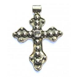Anhänger Kreuz mit Topas 3,5 cm 925er Silber