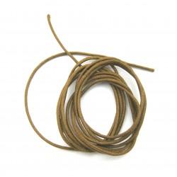 Baumwoll Bänder mittelbraun 1 mm VE 10 Stück