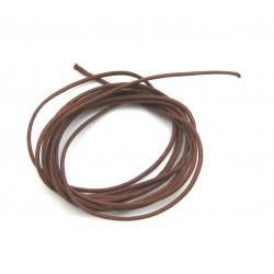 Baumwoll Bänder rotbraun 1 mm VE 10 Stück