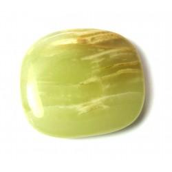 Scheibenstein Aragonit-Calcit grün-braun 1 Stück