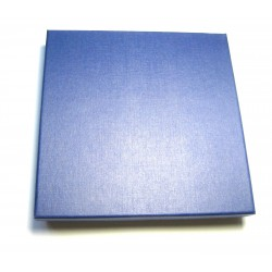 Schmuckschachtel Collier 18x18 cm blau VE 6 Stück
