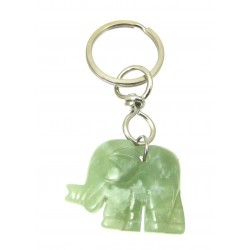 Schlüsselanhänger Elefant Serpentin grün