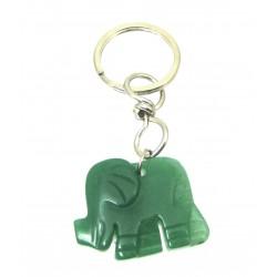 Schlüsselanhänger Elefant Aventurinquarz grün