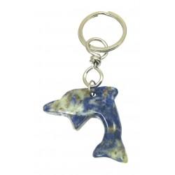 Schlüsselanhänger Delfin Sodalith