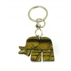 Schlüsselanhänger Elefant Tigerauge