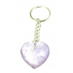 Schlüsselanhänger Herz Amethyst