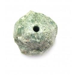 Chrysopras Rohstein gebohrt 1,5-2 cm