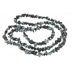 Splitterkette Obsidian Schneeflocke 80 cm