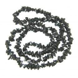 Splitterkette Obsidian schwarz 80 cm