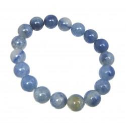 Kugel-Armband Blauquarz 10 mm