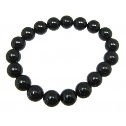 Kugel-Armband Obsidian schwarz 10 mm