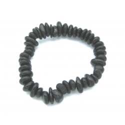 Scheiben-Armband Turmalin schwarz