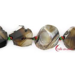 Strang Freiform-Platten Achat braun 30-35 x 25-30 x 10-12 mm
