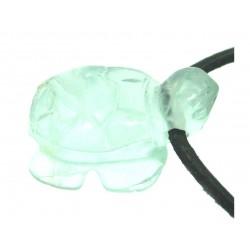 Schildkröte gebohrt Fluorit grün 2 cm