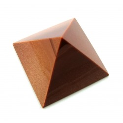 Pyramide Goldfluss (Kunstglas) 5 cm