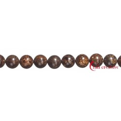 Strang Kugel Bronzit (Ferro-Enstatit) 6 mm