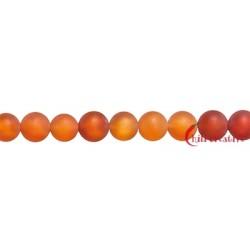 Strang Kugel Carneol (erhitzt) matt 6 mm