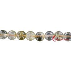 Strang Kugel Citrin (erhitzt) 12 mm