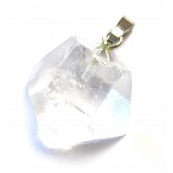 Anhänger Apophyllit weiß Kristall 1,5-2 cm 925er Silber-Öse