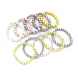 Muschelkernarmband (gefärbt) VE 10 Stück