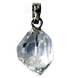 Anhänger Bergkristall Herkimer-Art 925er Silber-Öse