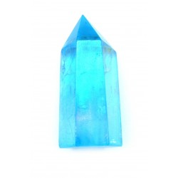 Bergkristall Spitze poliert Aqua Aura (bedampft) 5-6 cm