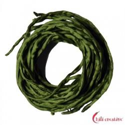 Habotai-Seidenbänder grün (olive) 100 cm VE 6 Stück