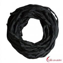 Habotai-Seidenbänder schwarz 100 cm VE 6 Stück
