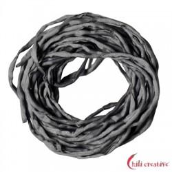 Habotai-Seidenbänder grau 100 cm VE 6 Stück