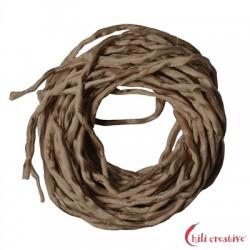 Habotai-Seidenbänder braun (beige) 100 cm VE 6 Stück