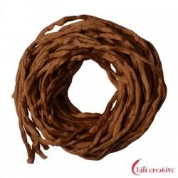 Habotai-Seidenbänder braun (carneol) 100 cm VE 6 Stück