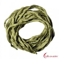 Habotai-Seidenbänder grün (jade) 100 cm VE 6 Stück