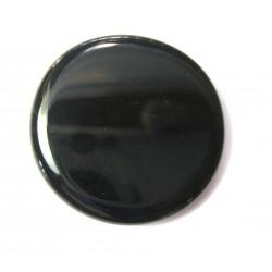 Scheibenstein Obsidian schwarz 1 Stück