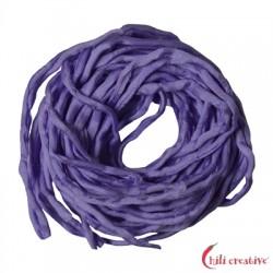 Habotai-Seidenbänder lila 100 cm VE 6 Stück