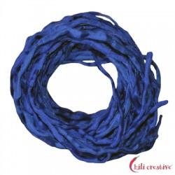 Habotai-Seidenbänder blau (dunkel) 100 cm VE 6 Stück
