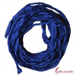 Habotai-Seidenbänder blau 100 cm VE 6 Stück