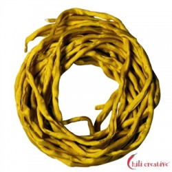 Habotai-Seidenbänder gelb (dunkel) 100 cm VE 6 Stück