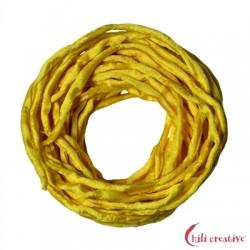 Habotai-Seidenbänder gelb 100 cm VE 6 Stück