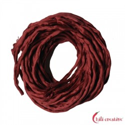 Habotai-Seidenbänder rot 100 cm VE 6 Stück