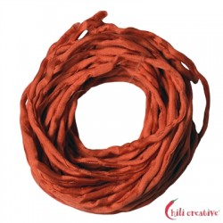 Habotai-Seidenbänder rot (koralle) 100 cm VE 6 Stück