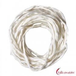 Habotai-Seidenbänder weiß 100 cm VE 6 Stück