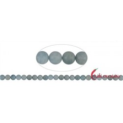 Strang Kugeln Aquamarin matt 8 mm (38cm)