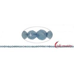 Strang Kugeln Aquamarin facettiert 4 mm
