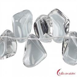 Strang Trommelsteine Bergkristall AA 12 x 20-22 mm